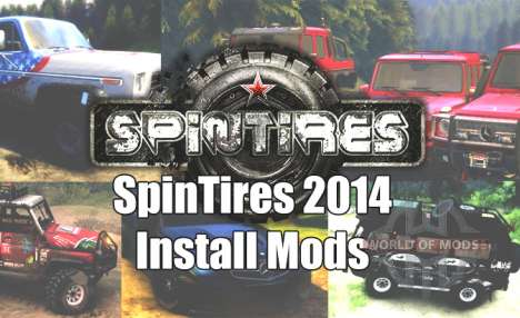 How to install mods for Spin Tires 2014?