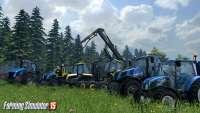Beautiful technique in the screenshot of Farming Simulator 2015