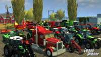 Trucks, harvesters and tractors in the screenshot Farming Simulator 2013