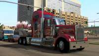 Red truck in American Truck Simulator