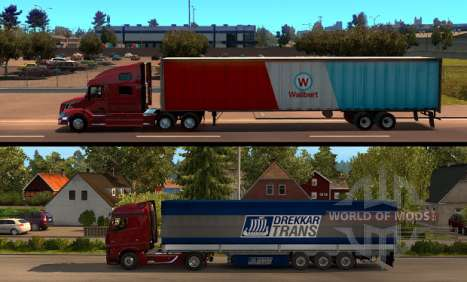 American Truck Simulator - comparison of the length of the trailer