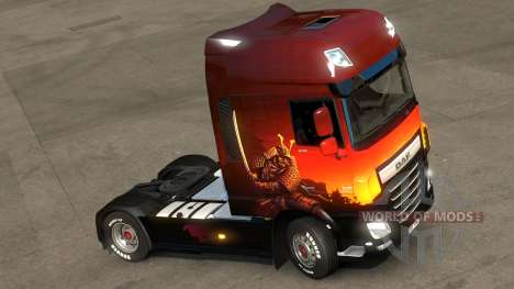 Japanese skin with samurai for ETS 2