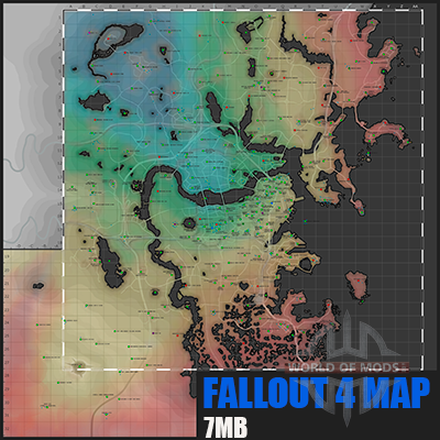Detailed map Fallout 4