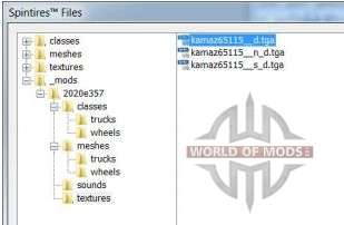 Spintires Editor file browser