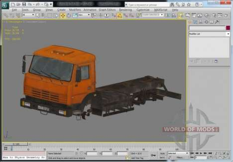 Truck view in 3D Max