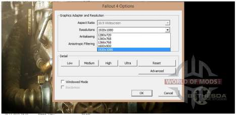 Changing the display resolution in Fallout4Launcher.exe