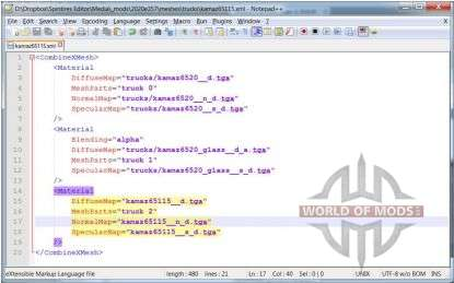 Mesh file in NotePad++