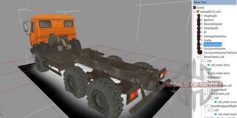 Truck view in Spintires Editor