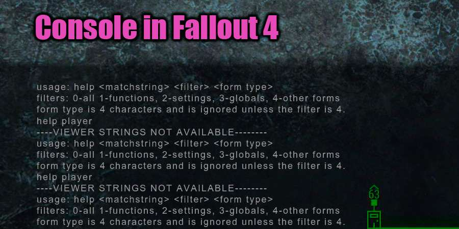 Console in Fallout 4