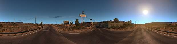 American Truck Simulator - desert panorama