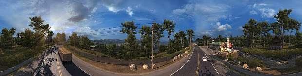 American Truck Simulator - countryside highway panorama