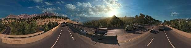 American Truck Simulator - highway panorama