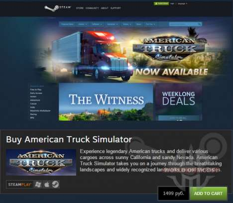 American Truck Simulator is available!