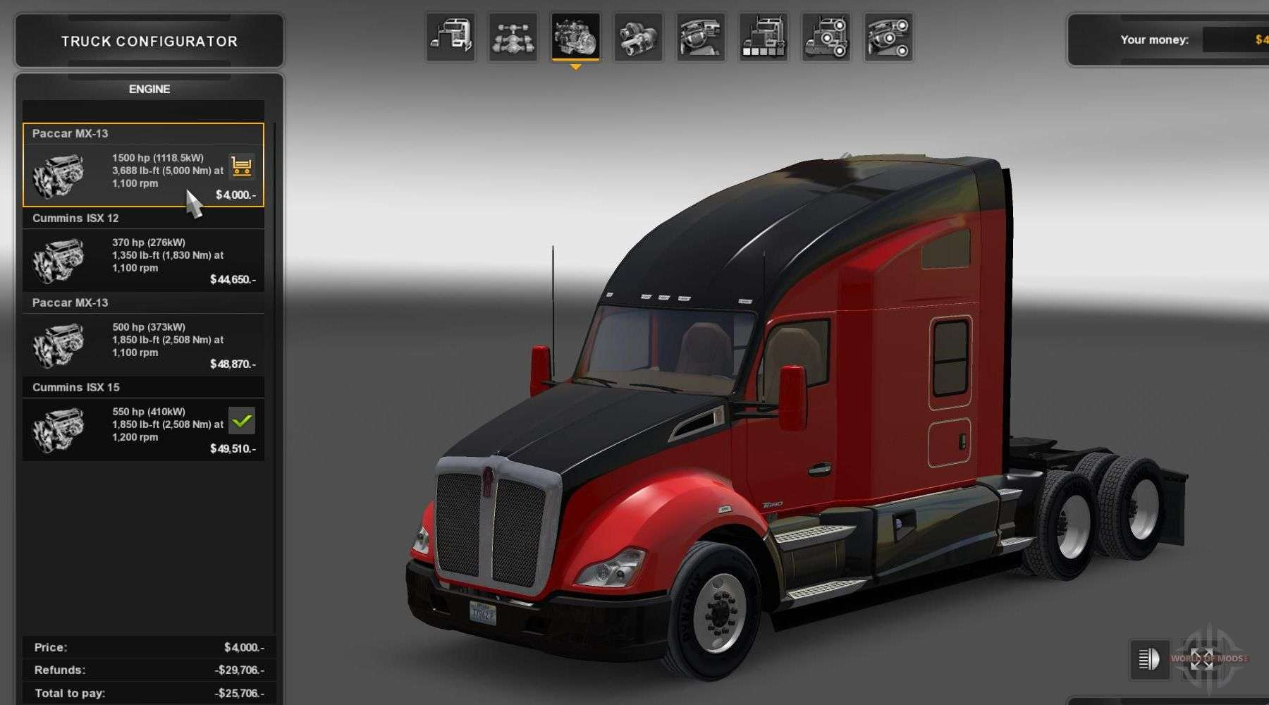 Spare parts and tuning for American Truck Simulator - download new