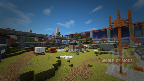 Cosmodrome from Destiny in Minecraft