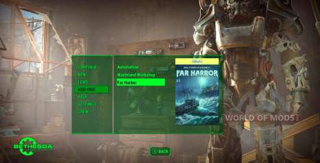 Update menu in Fallout 4