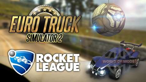 A bit of Rocket League in Euro Truck Simulator 2