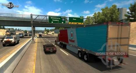 A screenshot from the American Truck Simulator update beta test