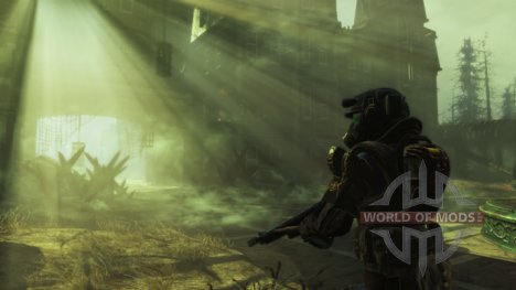 The radioactive mist in Fallout 4