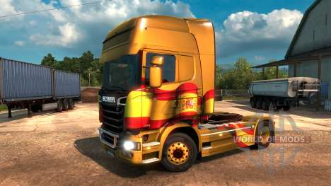 Spanish Flag Metallic for Euro Truck Simulator 2