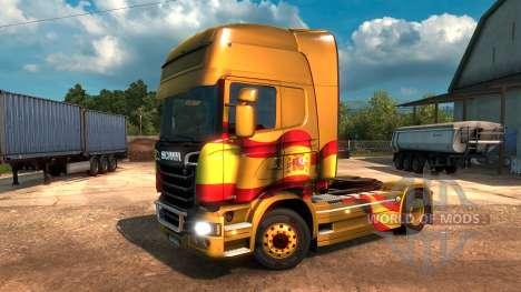 Spanish Flag Metallic for Euro Truck Simulator 2