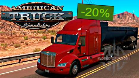 American Truck Simulator 20% discount on Steam