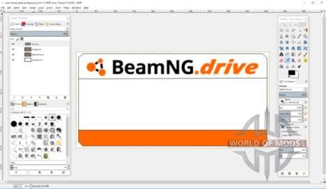 Create license plate template for BeamNG Drive