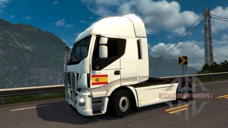 Spanish Flag Decal for Euro Truck Simulator 2