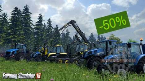 Discounts on Farming Simulator 15