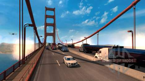 The Rescale of the American Truck Simulator game world