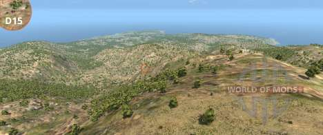 The scale of Italy map for BeamNG Drive