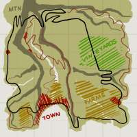 Scheme of the Italy map for BeamNG Drive