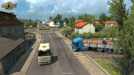Cargo delivery in La Rochelle from the Vive La France update for Euro Truck Simulator 2