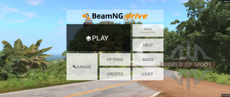 New main menu BeamNG Drive