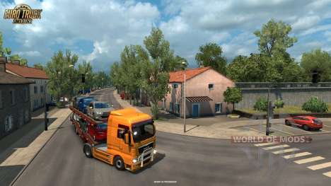 Narrow rods of La Rochelle from the Vive La France update for Euro Truck Simulator 2