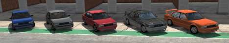ETK I Series from BeamNG Drive - all variants