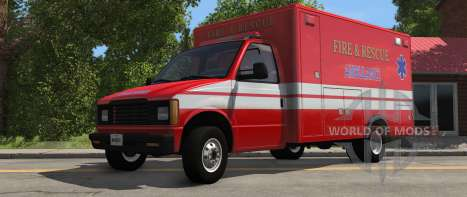 H-Series Ambulance variant from BeamNG Drive - front view