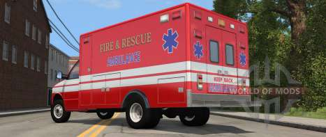 H-Series Ambulance variant from BeamNG Drive - rear view