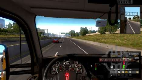 Adjustable steering wheel for American Truck Simulator