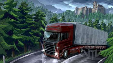 Forest adventure in Euro Truck Simulator 2
