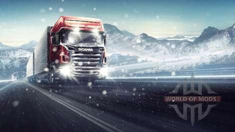 Through the Blizzard Euro Truck Simulator 2
