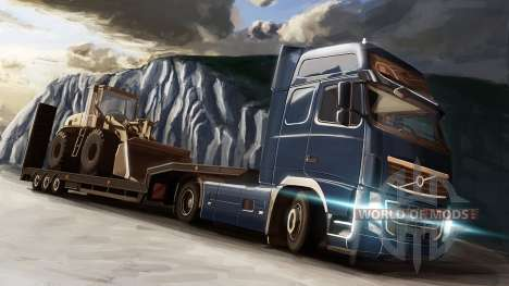 The Volvo and the Dozer in Euro Truck Simulator 2