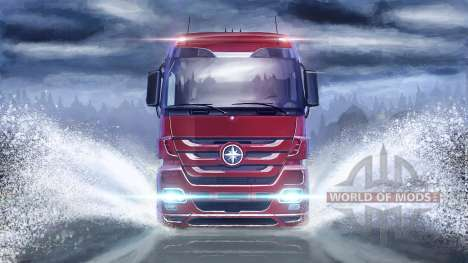 On the water surface in Euro Truck Simulator 2
