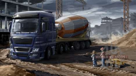 Fathers and sons in Euro Truck Simulator 2
