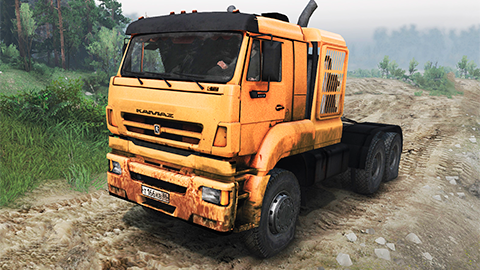 Awesome KAMAZ 65226 mod for SpinTires 2014