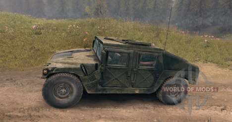 HMMWV (c) several types of wheels for Spin Tires