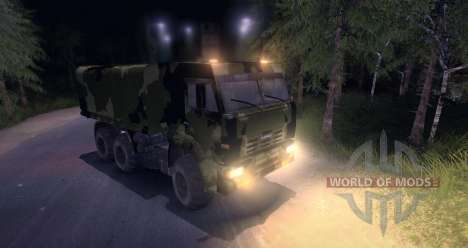 KAMAZ Camo for Spin Tires