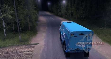 KAMAZ MASTER 4911 Dakar Rally for Spin Tires