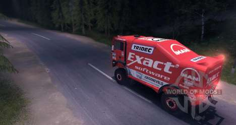 MAN TGA 18.531BB DAKAR for Spin Tires