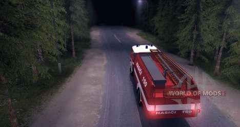 LIAZ (Skoda) 706 RT - old firetruck for Spin Tires
